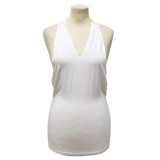 Jitrois White Halter Neck top
