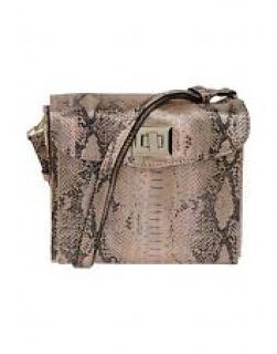 Just Cavalli Holographic Snake Print Handbag