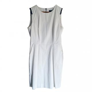 Aquascutum White Classic Shift Dress
