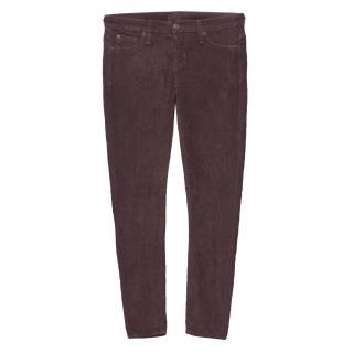Hudson Plum Corduroy Trousers