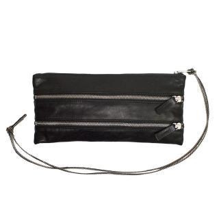 Ann Demeulemeester Black Zipper Clutch