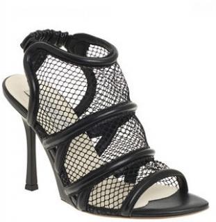 Stella McCartney Black Mesh Sandals