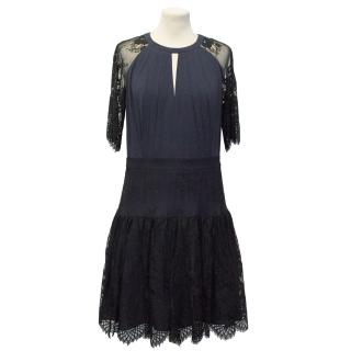 Alice by Temperley Blue Lace Dress