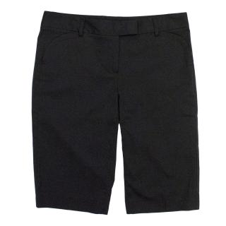 Theory Black Bermuda Shorts