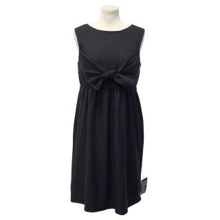 Vera Wang Black Wool Sleeveless Dress