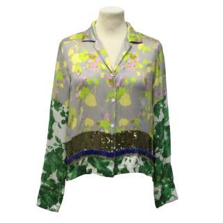 Dries Van Noten Multicoloured Silk Top