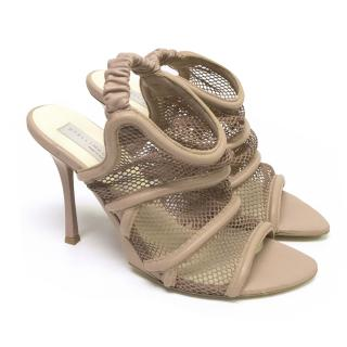 Stella McCartney Nude Mesh Sandals