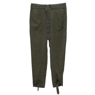 7 for All Mankind Green Trousers