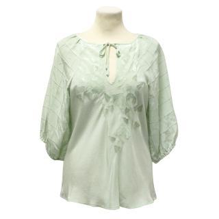 Paul & Joe Mint Green Silk Top