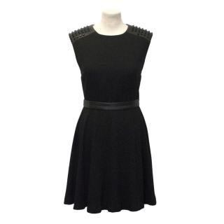 Alice & Olivia Black Studded Dress