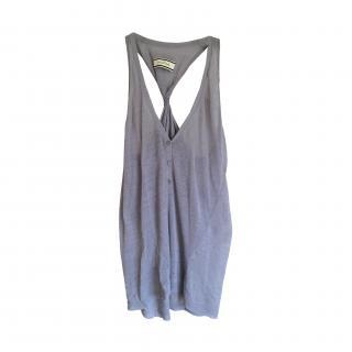 By malene Birger Grey Linen Racer Back Dress