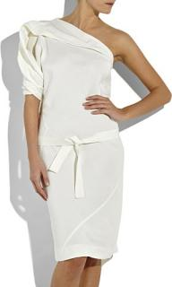Bottega Veneta Cream Silk Dress