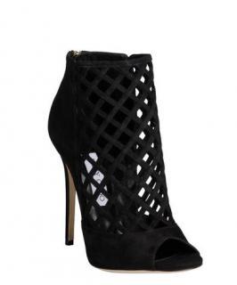Jimmy Choo Black Peep Toe ankle Boots