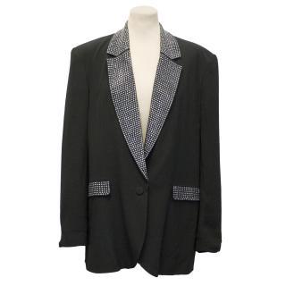 By Malene Birger Black Crepe Studded Jacket