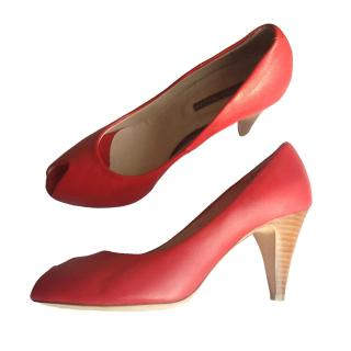 Pollini Scarlet Leather Shoes