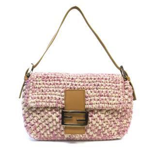 Fendi Woven Pink Bag