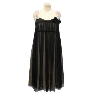 Schumacher Black Sheer Lace Dress