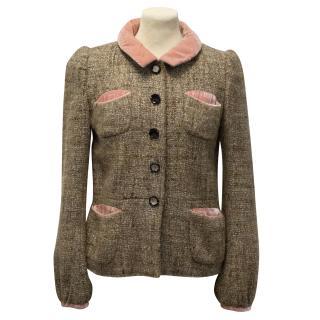 Marc Jacobs Light Brown Tweed Jacket