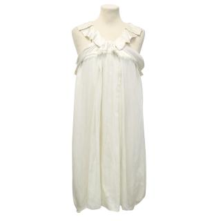Vanessa Bruno Silk Cream Dress