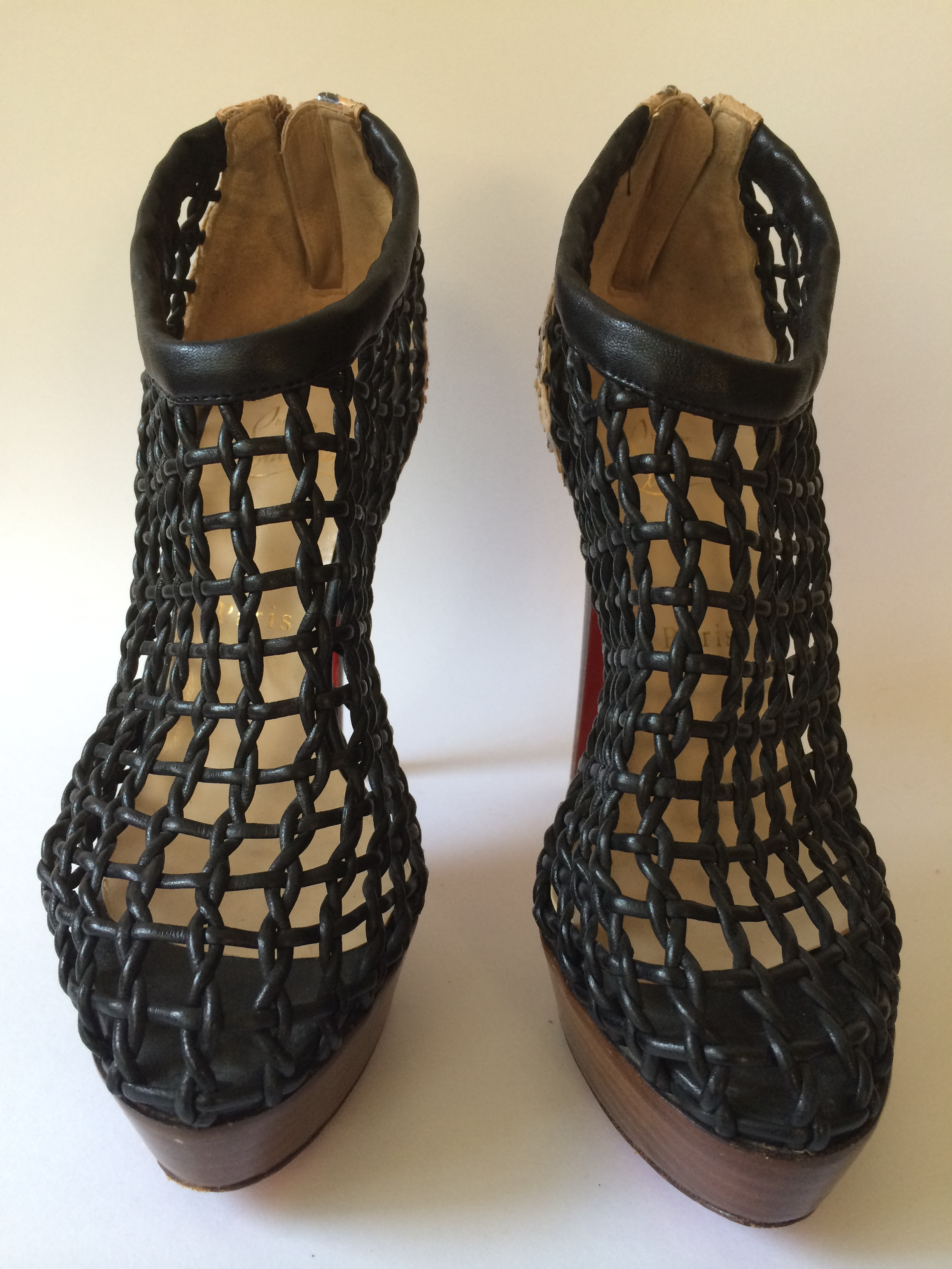 huge discount db039 d9715 CHRISTIAN LOUBOUTIN Coussin Desert Python Caged Ankle Boots