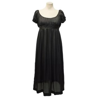 Jill Stuart Black Silk Dress