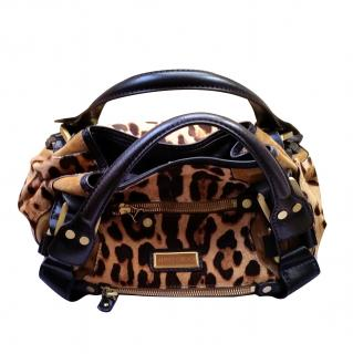 Jimmy Choo Maddy Leopard Print Bag