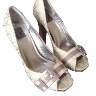 Calvin Klein peep toe shoes