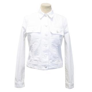 J Brand Isla Denim White Jacket