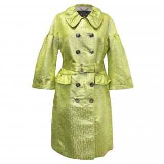 Burberry Yellow and Gold Coat
