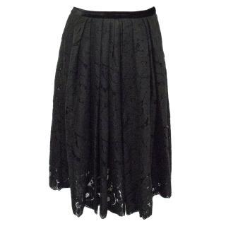 Lanvin Black Lace Skirt