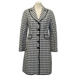 Moschino Cheap and Chic Black and White Gingham Coat