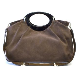 Marni Brown Suede Bag