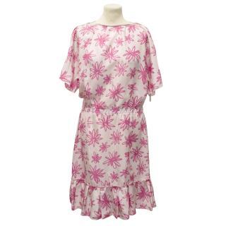 Nina Ricci Pink Floral Silk Dress