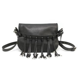 Balmain Black Saddle Bag
