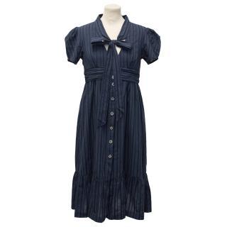 Jovovich Hawk Striped Navy Dress