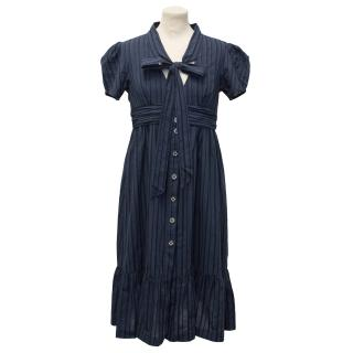 Jovovich Hawk Striped Navy Dress