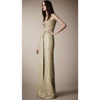Burberry Prorsum Gold Gown