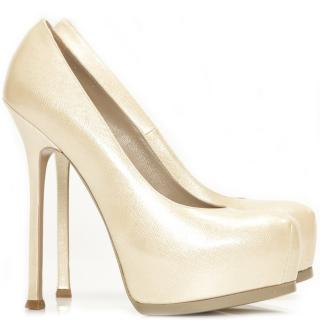 YSL Cream Leather Tribtoo shoes