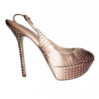 Sergio Rossi Crystal Studded Sandals