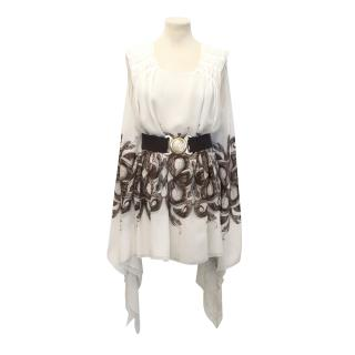 Thomas Wylde Cream Silk Pattern Top