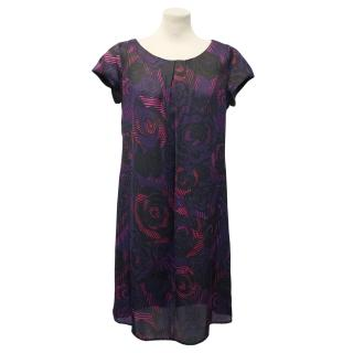 Zandra Rhodes Purple Printed Dress
