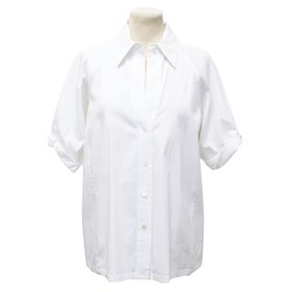 Donna Karan Collection White Cotton Shirt