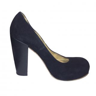Acne Black Suede Shoes