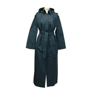 Brioni Blue Long Trench Coat