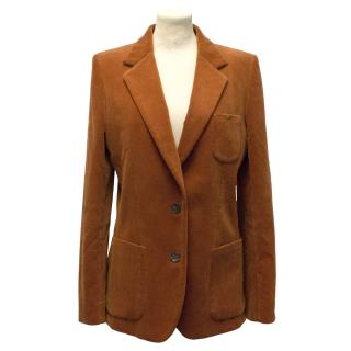 Chloe Orange Corduroy Jacket