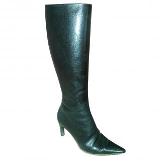 Bally Black Leather boots
