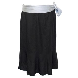 Yves Saint Laurent Rive Gauche Black Silk Skirt