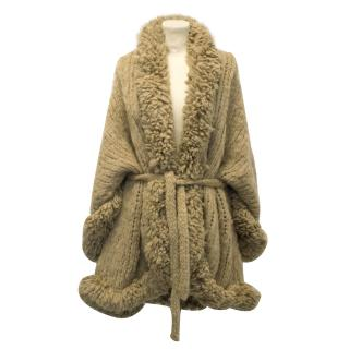 Stella McCartney Mohair and Wool Mix Chunky Knit Cardigan