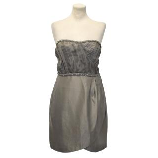 Rachel Gilbert Taupe 'Nikita' Strapless Dress