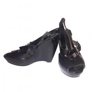 Marni Black Wedged Sandals